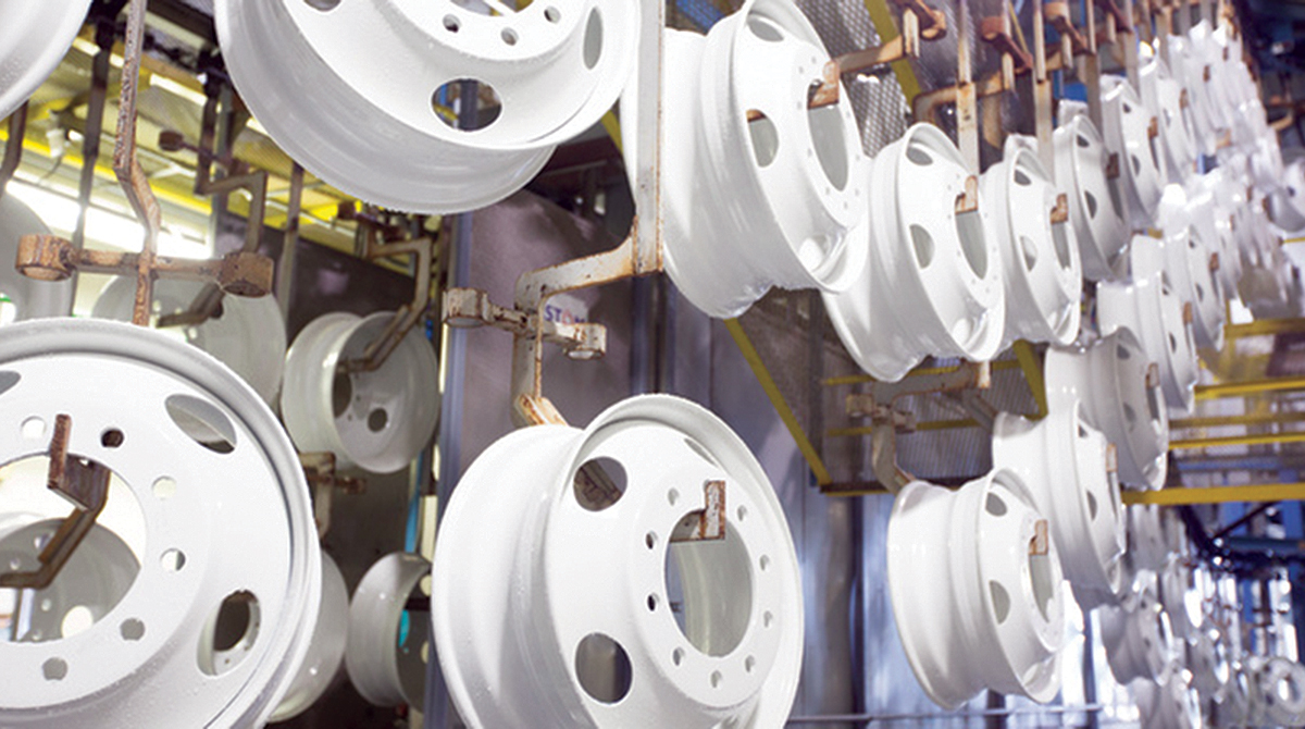 An Accuride steel wheel manufacturing facility