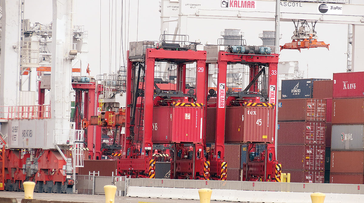 Autonomous straddle carriers operating at the Port of Los Angeles