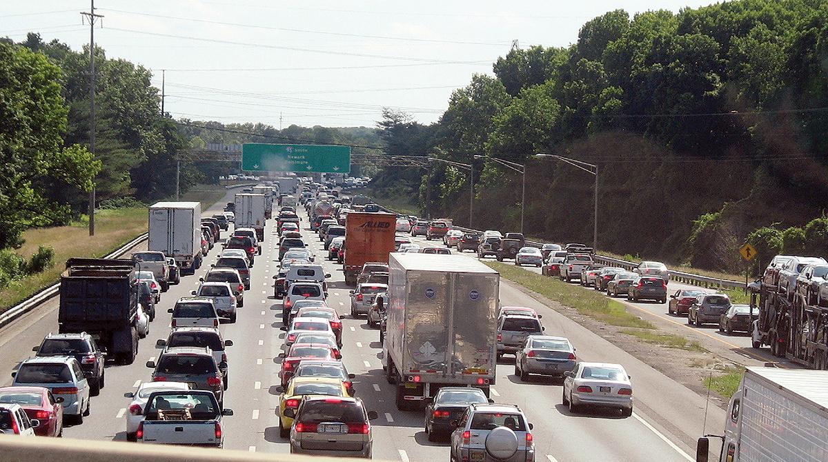 Traffic on Interstate 95 in Delaware