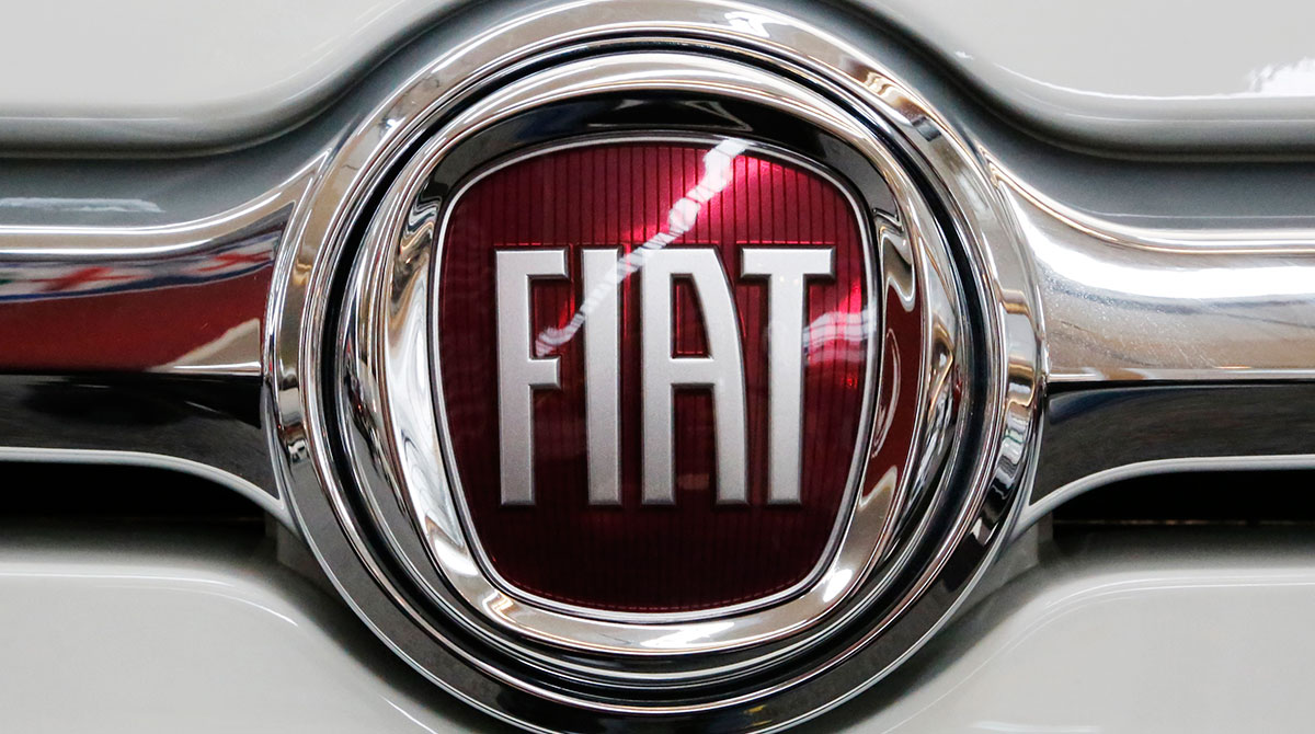 Fiat logo on vehicle