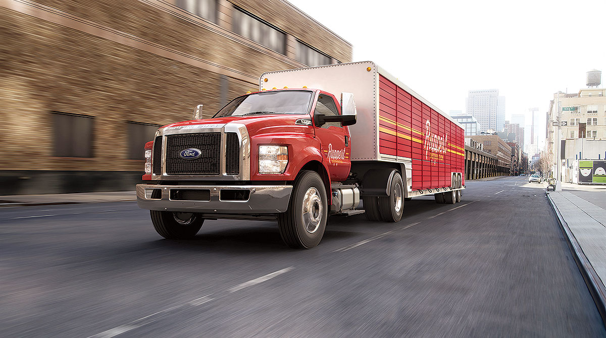 Ford F750 truck