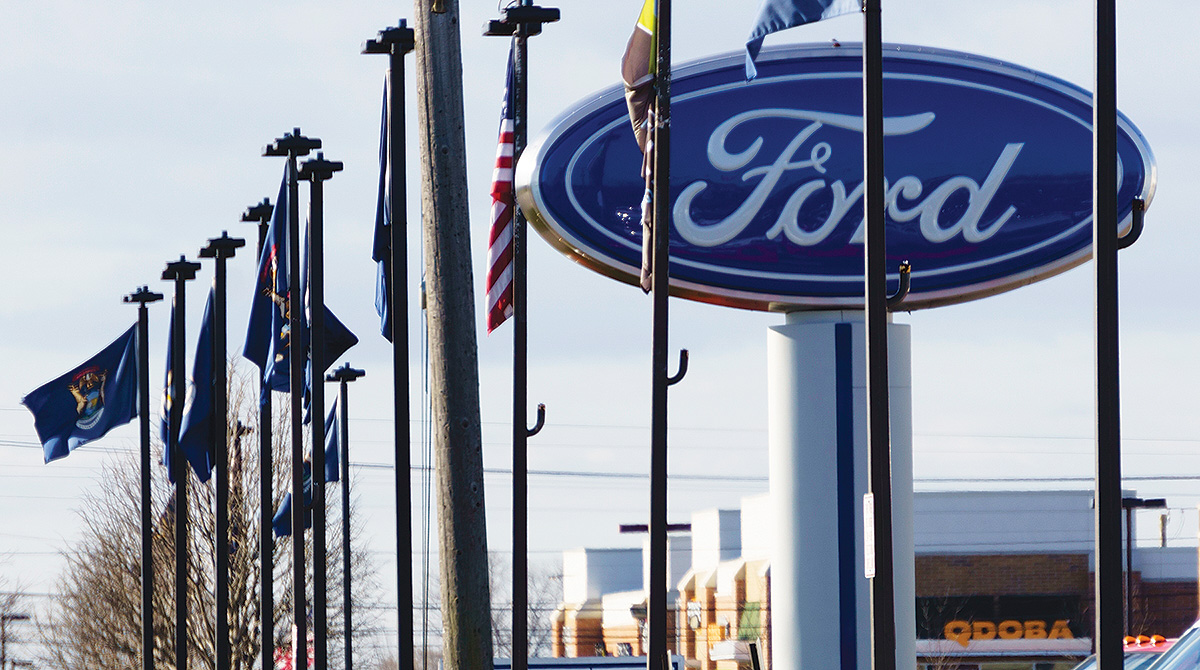 Ford vehicle lot