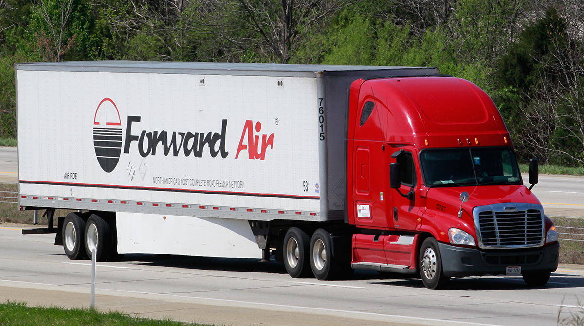 Forward Air truck on the road
