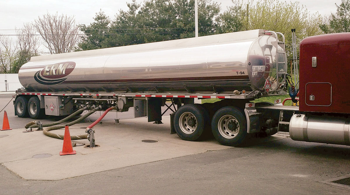 Fuel delivered to a service station