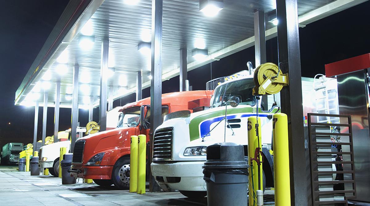 Diesel truck stop