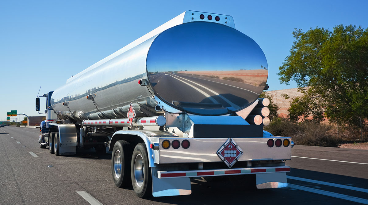 Fuel tanker on the highway