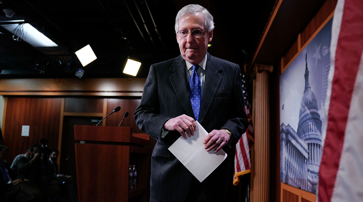 Senate Leader Mitch McConnell