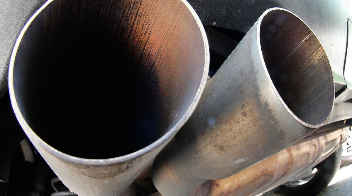 VW diesel exhaust pipes