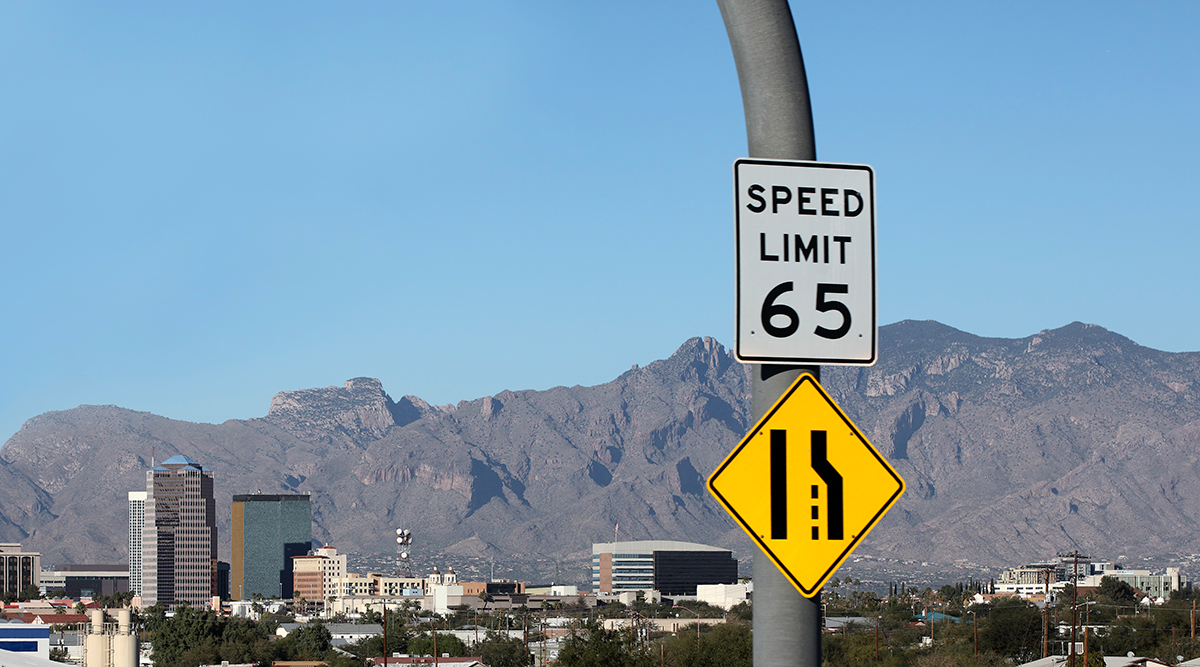 Speed limit 65 mph sign