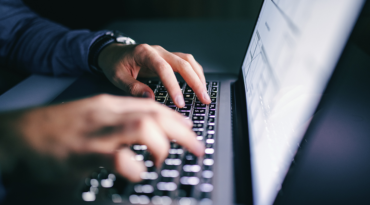 Person working at computer