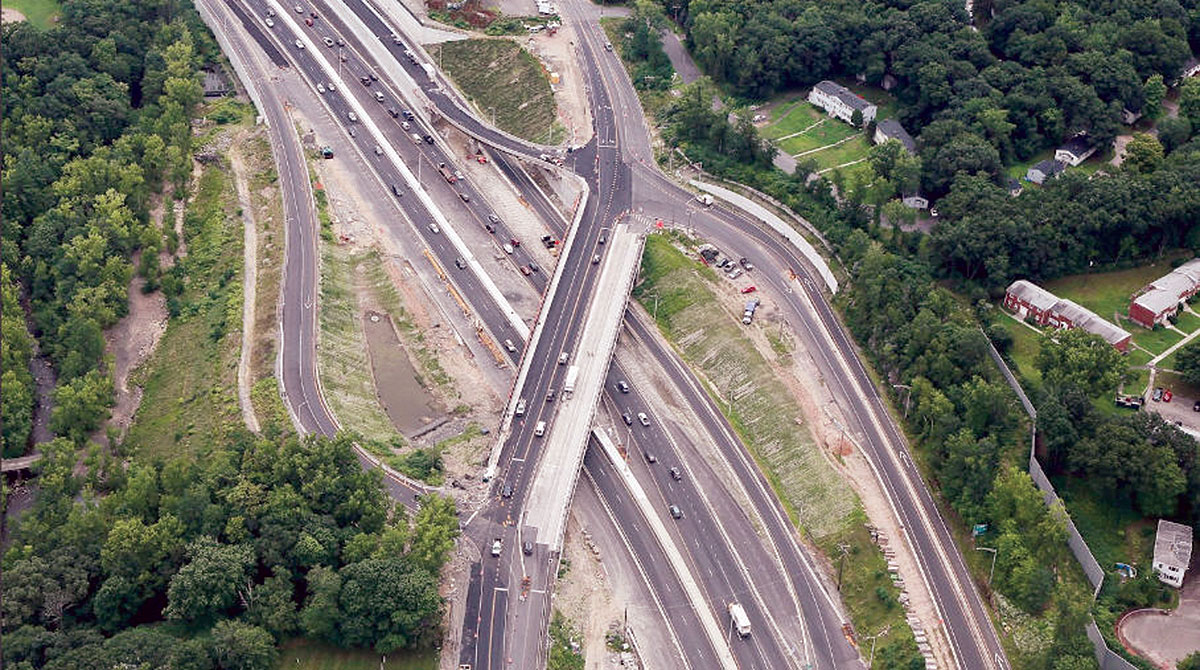 Aerial view of I-84