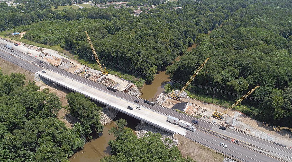 Interstate 95 bridge construction in Virginia