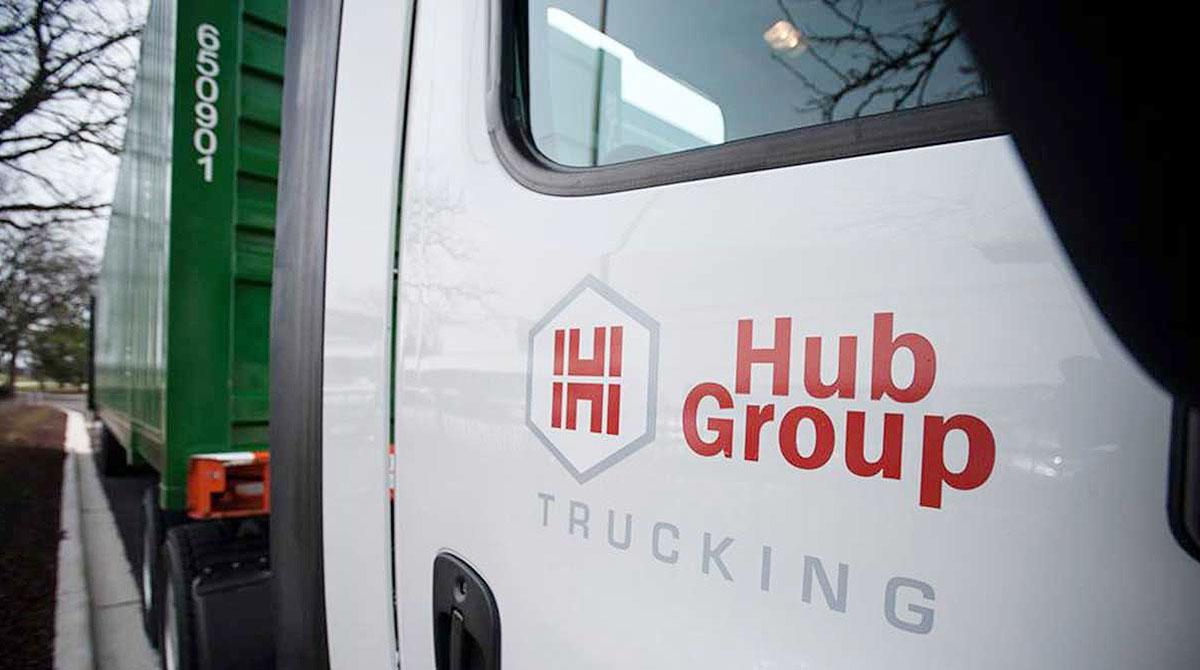 Hub Group truck closeup