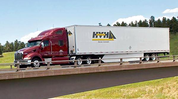 An HVH Transportation truck
