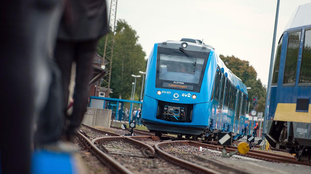 Hydrogen-fueled train in Germany