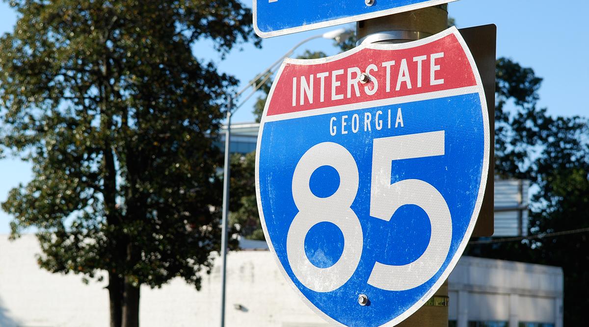 Interstate 85 sign in Georgia
