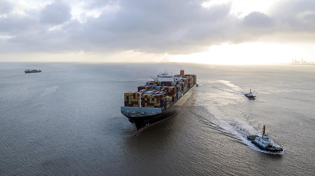 Ship at China port