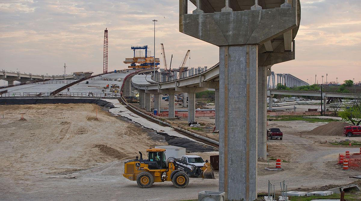 Bridge construction Texas