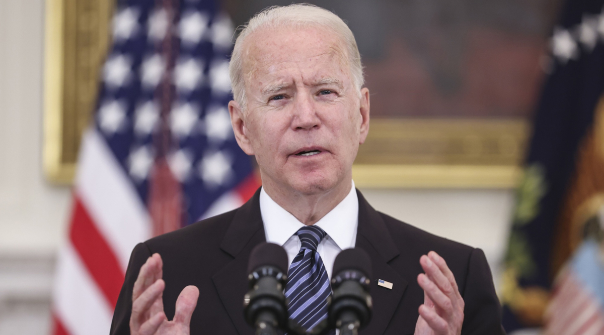 President Joe Biden delivers remarks from the White House on June 23. (Oliver Contreras/Bloomberg News)