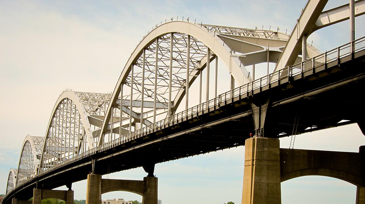 Centennial Bridge in Iowa