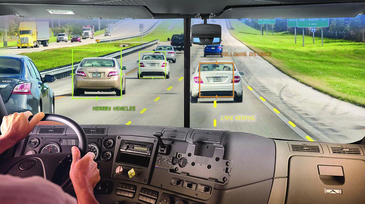 Trucker using video technology