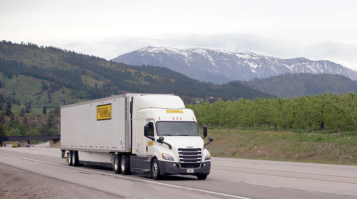 J.B. Hunt truck
