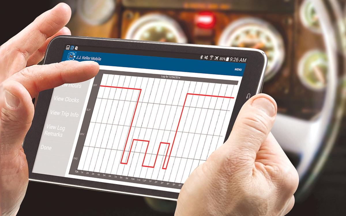 J.J. Keller software on a tablet