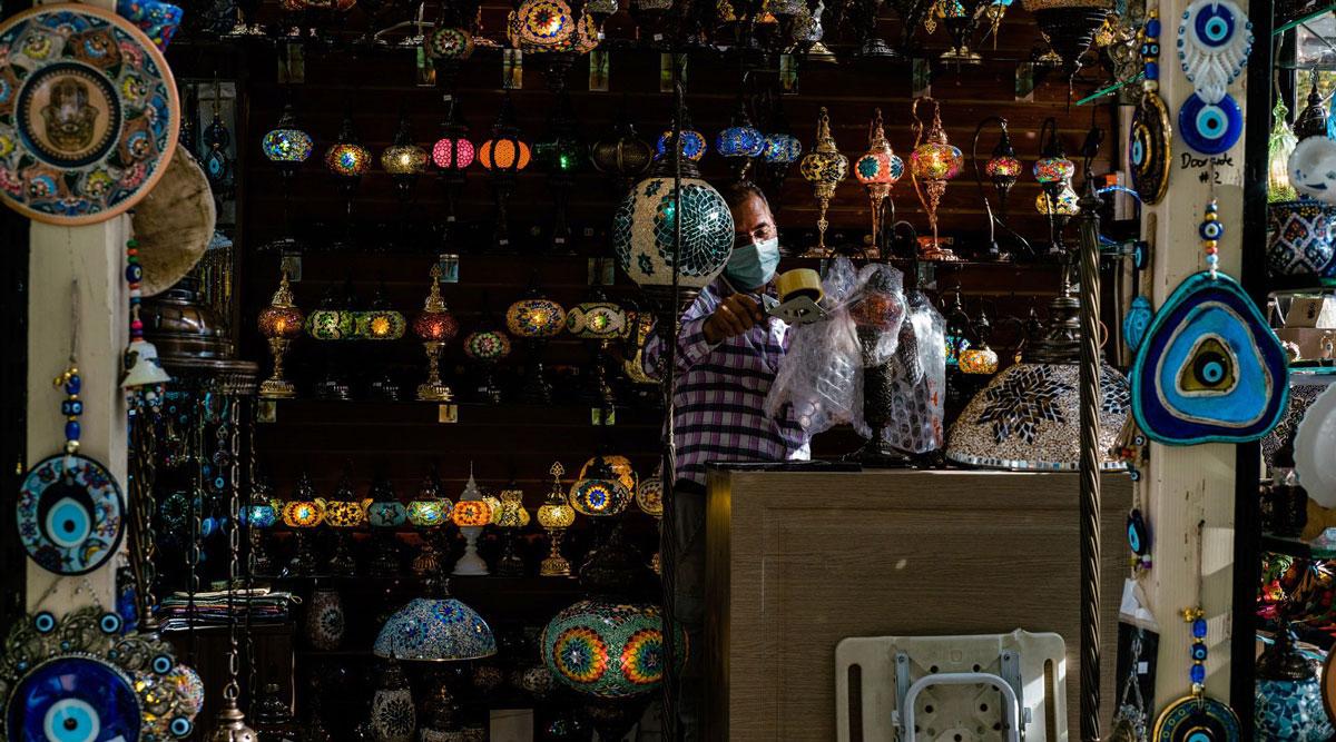 Inside a shop in Bryant Park's Winter Village in New York. (Gabriela Bhaskar/Bloomberg News)