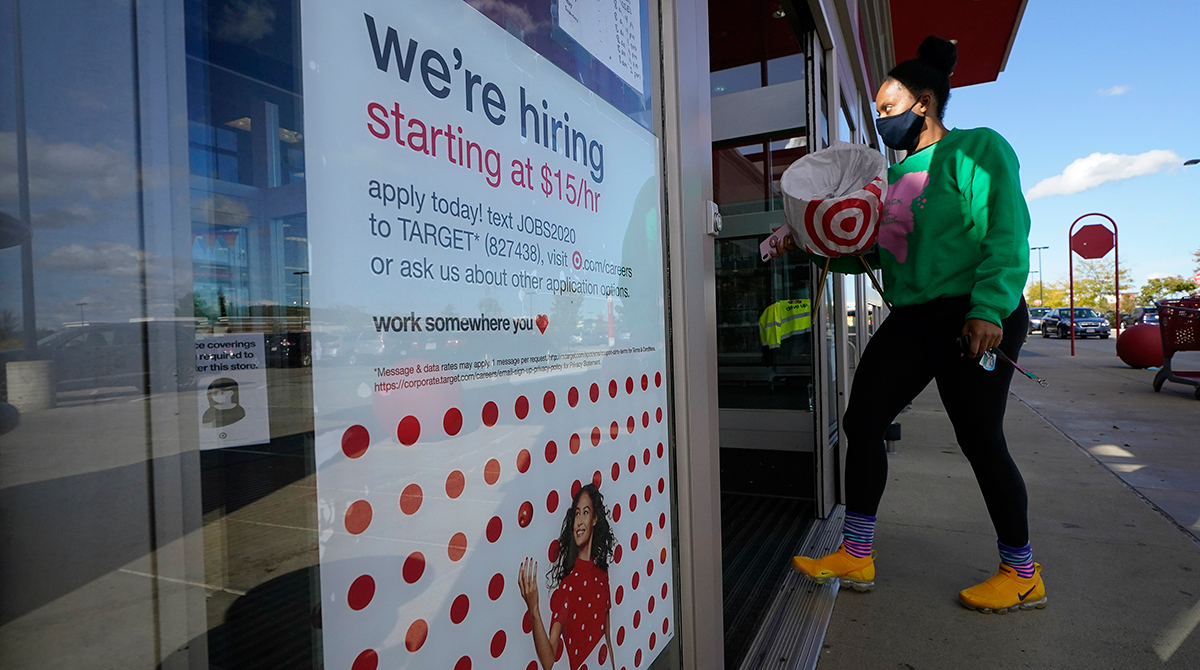Hiring sign at Target