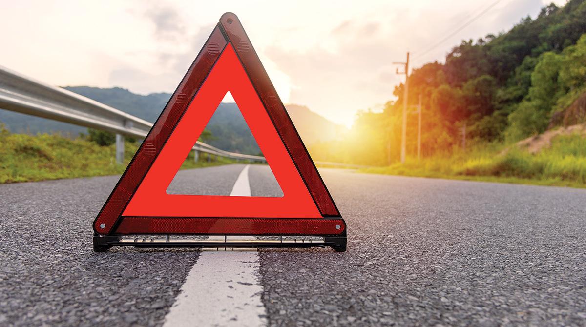 orange road warning