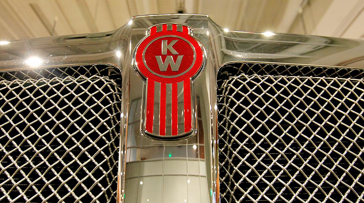 Kenworth truck logo closeup