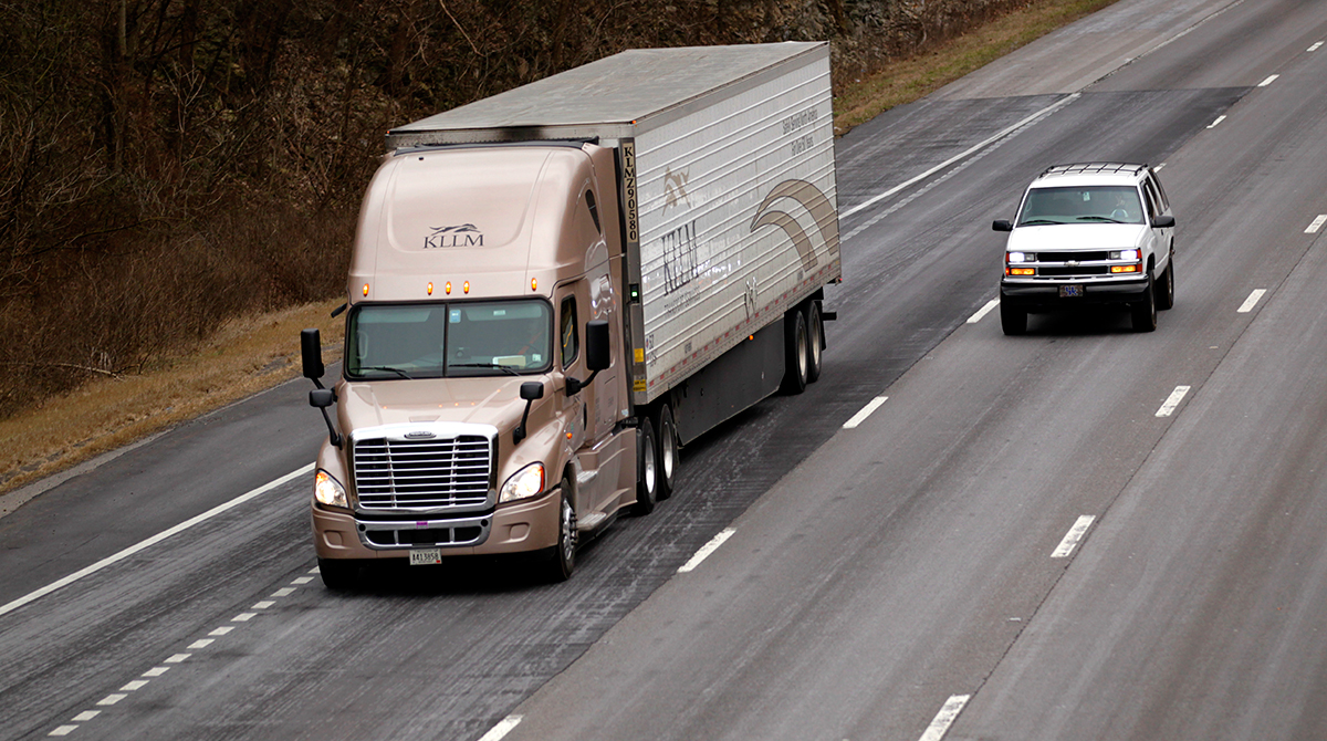 KLLM Transport Services truck