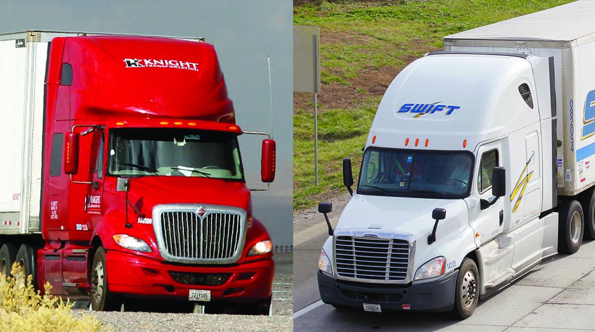 Knight Transportation and Swift Transportation cabs