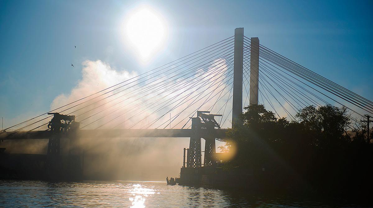 Old Kosciuszko Bridge destroyed