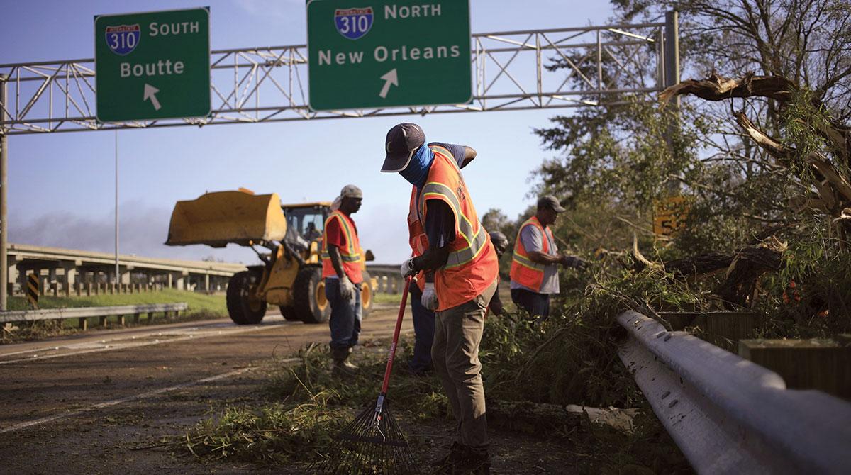 Hurricane Ida cleanup