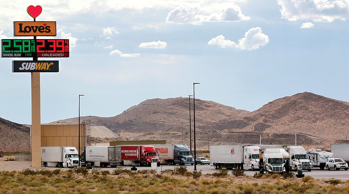Love's truck stop outside of Las Vegas