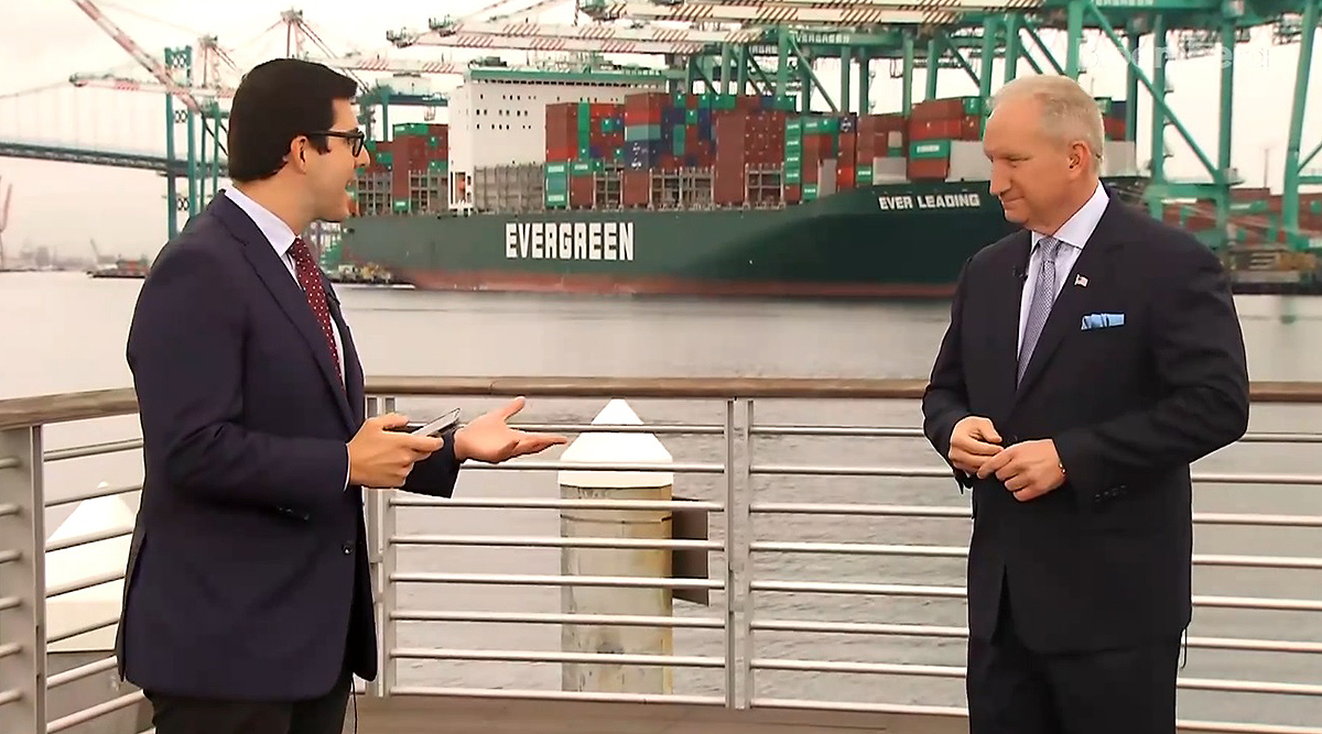 Gene Seroka (right) interviewed by Bloomberg's Ed Ludlow