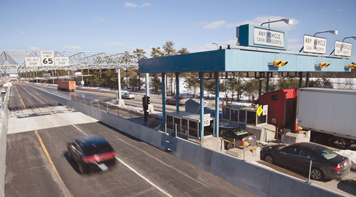 Toll booth along the Maine Turnpike