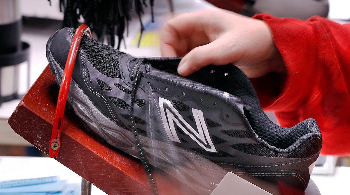 shoe at New Balance factory