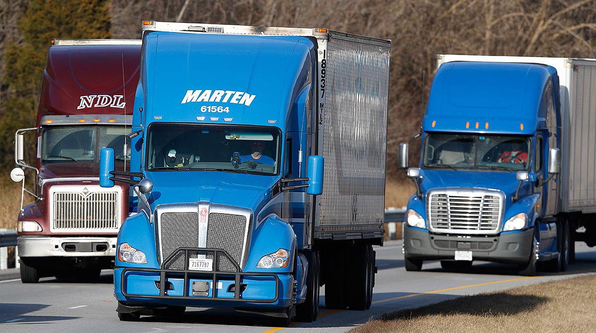 Marten trucks on the highway