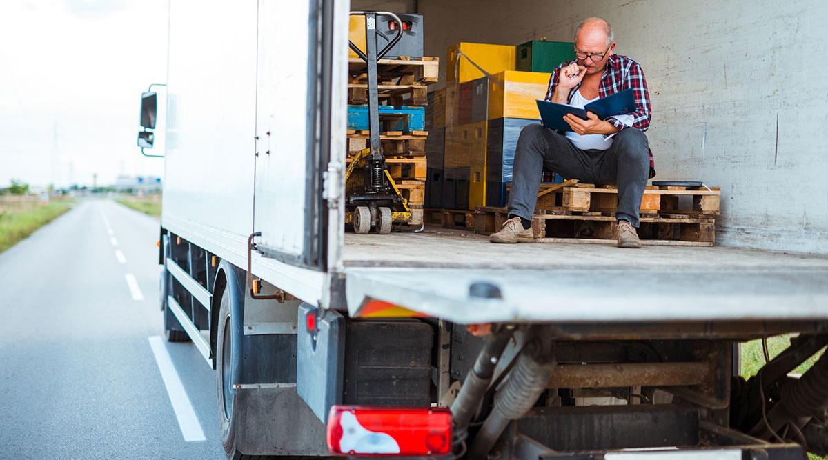 trucker taking a break