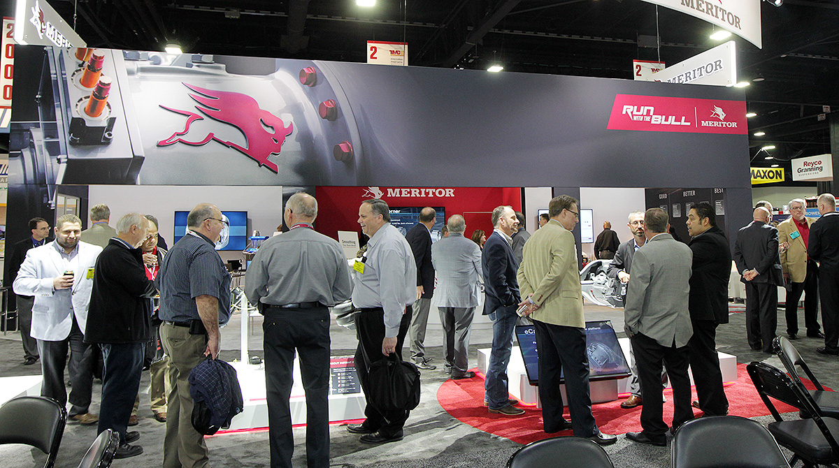Meritor booth at industry show