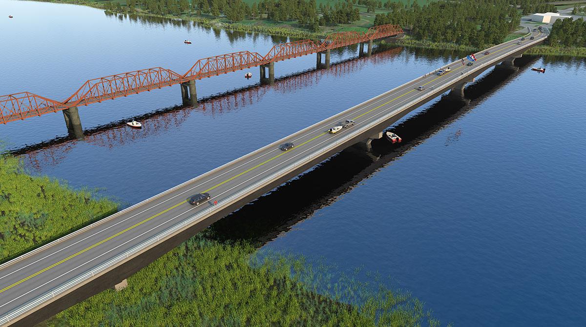 Baudette bridge visualization