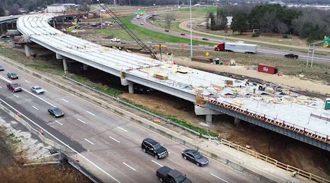 Mississippi DOT's I-20 bridge replacement project