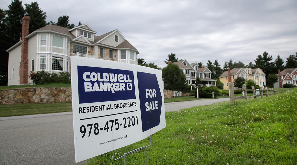 Sign advertising house for sale in Massachusetts