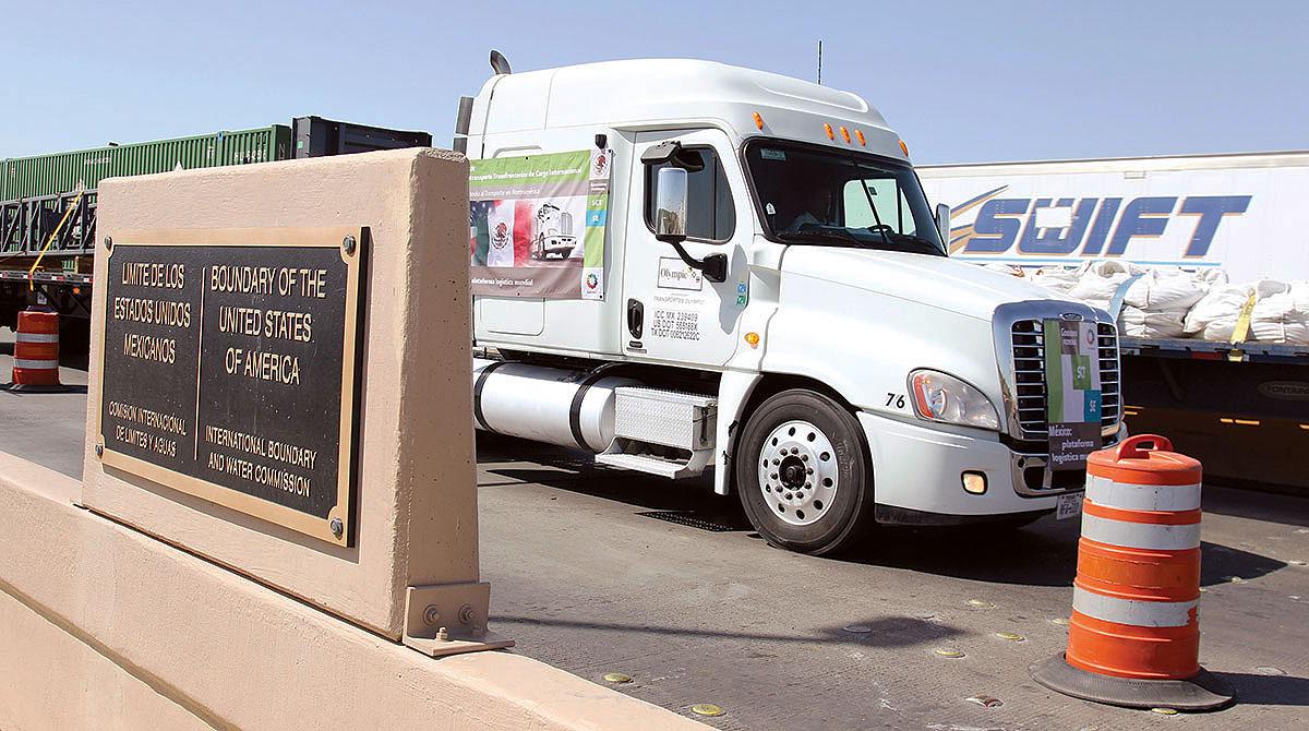 Truck at US-Mexico border
