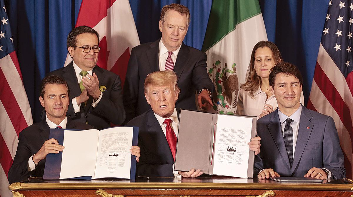 Leaders sign USMCA