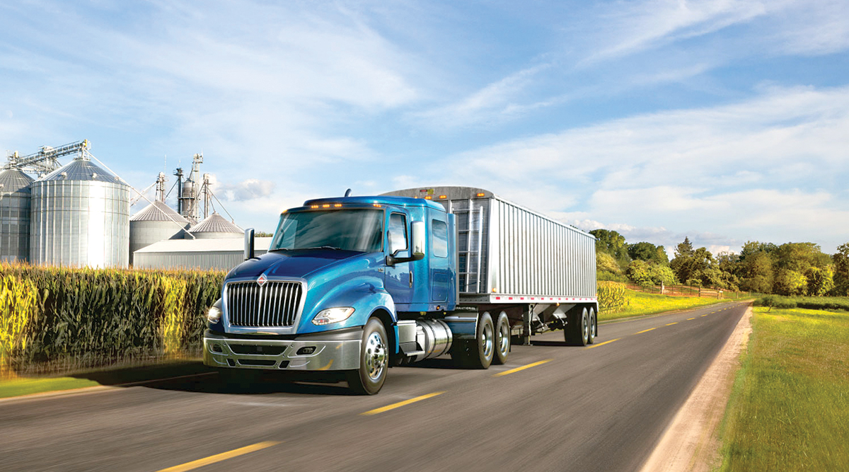 An International truck