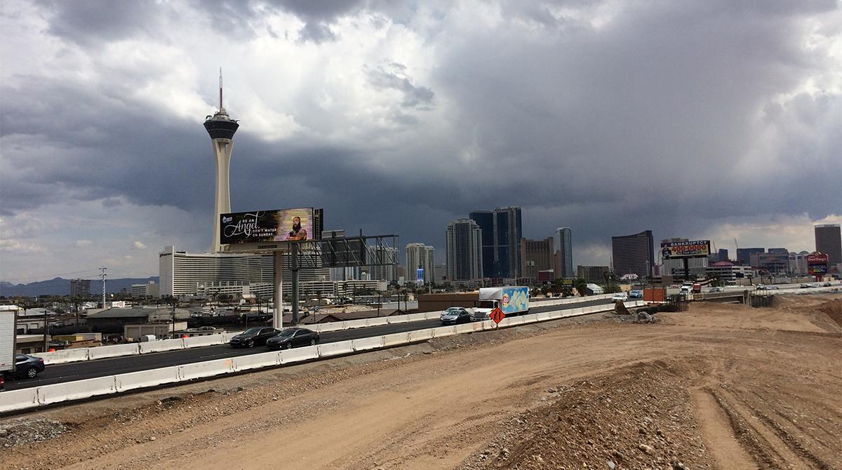 Construction near Vegas Strip