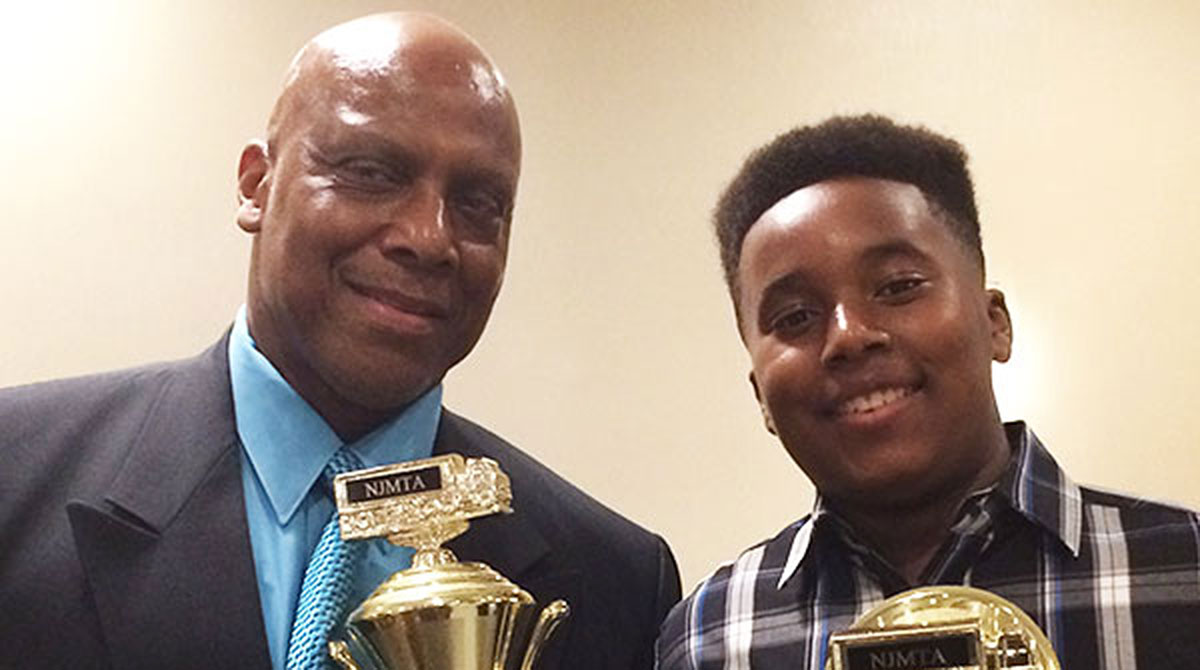 New Jersey Grand Champion Carlose London and his son, Jaylen